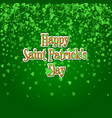 saint patricks day background with raining green vector image vector image