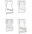 Scarf vector image vector image
