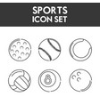 set flat icon ball sport vector image vector image