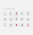 set of 15 editable apparatus outline icons vector image vector image