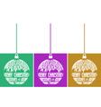 set of three christmas balls vector image vector image