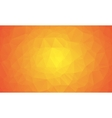 shades orange abstract polygonal geometric vector image vector image