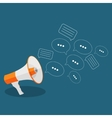 Social Media Flat Concept with Megaphone and vector image