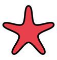 starfish animal shell isolated icon vector image
