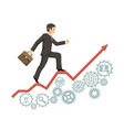 strong confident experienced businessman business vector image vector image