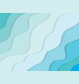 summer 3d sea waves banner paper cut out layers vector image vector image