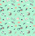 Summer beach party seamless pattern seashells and vector image vector image