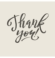 Thank You Card Calligraphy vector image vector image