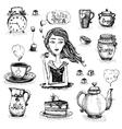 The love of tea scene vector image vector image
