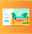 travel agency website homepage template vector image