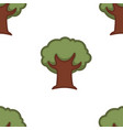 tree seamless pattern nature forest oak wallpaper vector image vector image