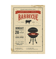 Vintage barbecue invitation card on old paper vector image vector image