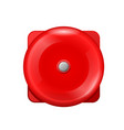 vintage red wall ball fire alarm - retro siren vector image vector image