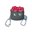 waiting ikura mascot cartoon style vector image