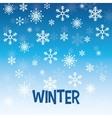 Winter design blue background Flat vector image