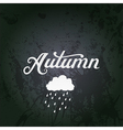 With Autumn watercolor lettering A