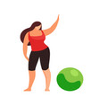 woman doing fitness exercise isolated vector image vector image