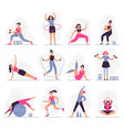 woman sport activities beautiful young woman do vector image