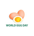 world egg day 12 october vector image