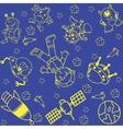 Astronaut in space doodle art vector image