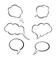 speech bubbles set think bubble vector image