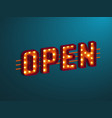3d retro open sign vector image vector image