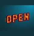 3d retro open sign