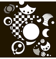 Abstract black-and-white background with circles vector image