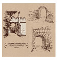 aincient arches and gates vector image