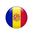 andorra flag on button vector image