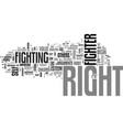are you a right fighter text word cloud concept vector image vector image