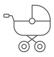 baby carriage thin line icon child and pram vector image vector image