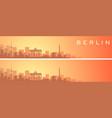 berlin beautiful skyline scenery banner vector image