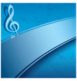 blue background with music notes - musical flyer vector image vector image