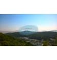blurred background landscape vector image