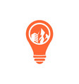 building lamp logo template vector image vector image