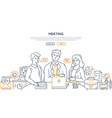 business meeting - modern line design style vector image vector image