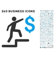 Business Steps Icon with Flat Set vector image vector image