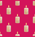 candle seamless pattern vector image vector image