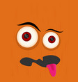 cartoon monster in flat style happy halloween vector image vector image