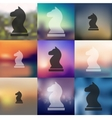 chess icon on blurred background vector image