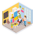 disabled people isometric composition vector image vector image