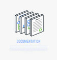 documentation isometric vector image vector image