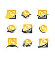 dollar symbol coin logo icons vector image vector image
