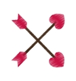 drawing crossed arrow valentine day party vector image