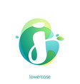 ecology lowercase letter j logo overlapping vector image vector image