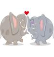 elephants in love cartoon vector image