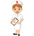 female doctor waving hand vector image vector image