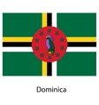 Flag of the country dominica vector image vector image