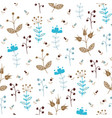 floral pattern with autumn flowers vector image vector image